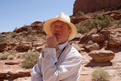 Seattle Life coach William Wittmann in the Desert stillness