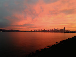Alki sunrise by Seattle Life coach William Wittmann